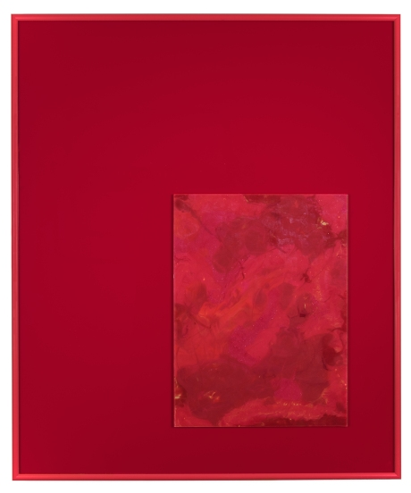 analogdigital-red-2015-crayon-on-glass-acrylic-sheeting-and-aluminum-frame-24-x-20-inches